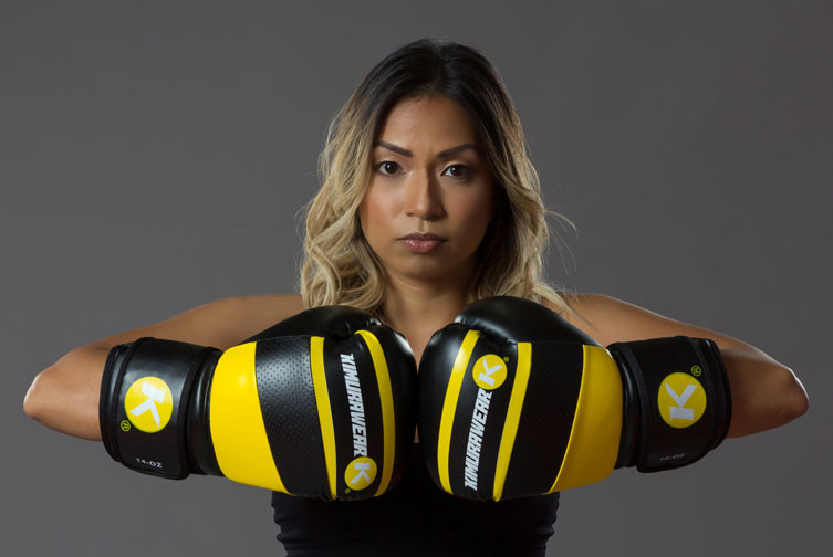 Womens Yellow Boxing Gloves