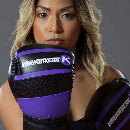 Womens Purple Boxing Gloves Kimurawear