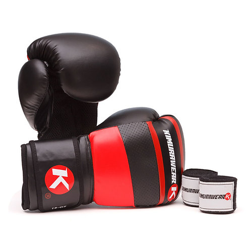 ASPIRE AGARI 16oz Boxing Gloves and Wraps