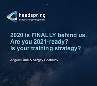 Is Your Training Strategy 2021-Ready?