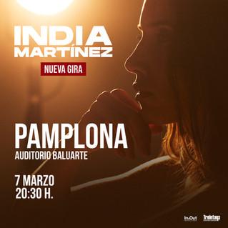 INDIA MARTINEZ ACTUARÁ EN PAMPLONA EL PRÓXIMO 7 DE MARZO