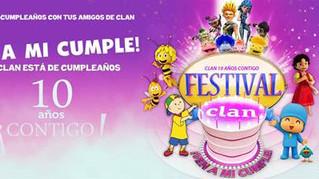 """FESTIVAL CLAN """"VEN A MI CUMPLE""""  LLEGA A PAMPLONA EL 2 DE ABRIL"""