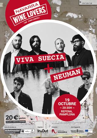 La D.O. Navarra presenta a Viva Suecia y Neuman en concierto en Pamplona