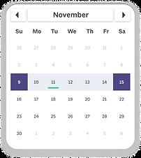 BookJane showing upcoming schedule