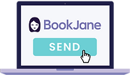 Computer displaying BookJane scheduling process for on call staff