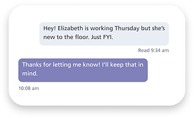 BookJane chat feature showing messages b