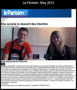 Le Parisien, May 2013