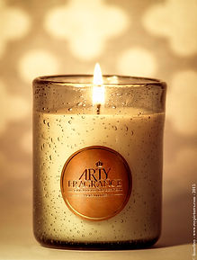 Our new perfum candle by elisabeth de feydeau, persian letters