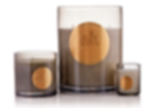 3 formats différents collection de bougies royales