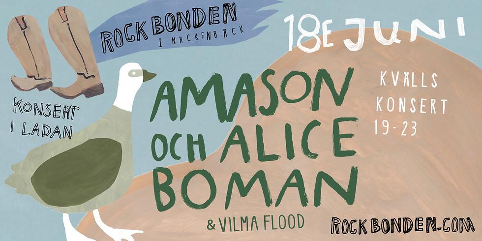 Amason & Alice Boman - 18 juni Kvällskonsert