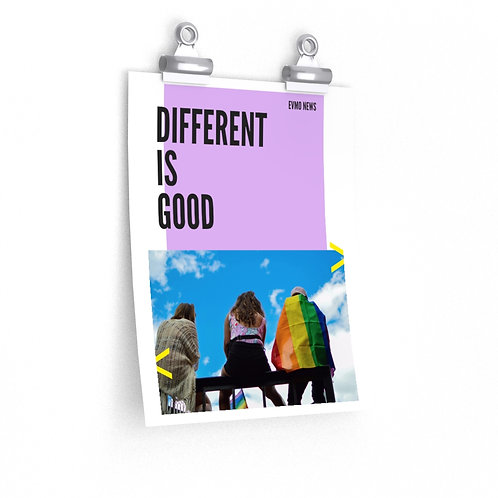 Different is Good EVMO Poster