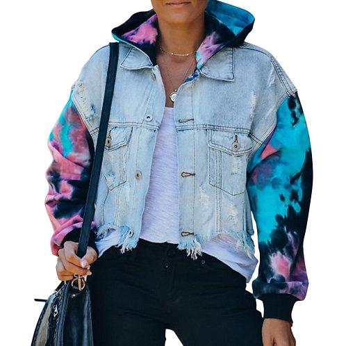 Tie Dye Rocker Chick Jacket