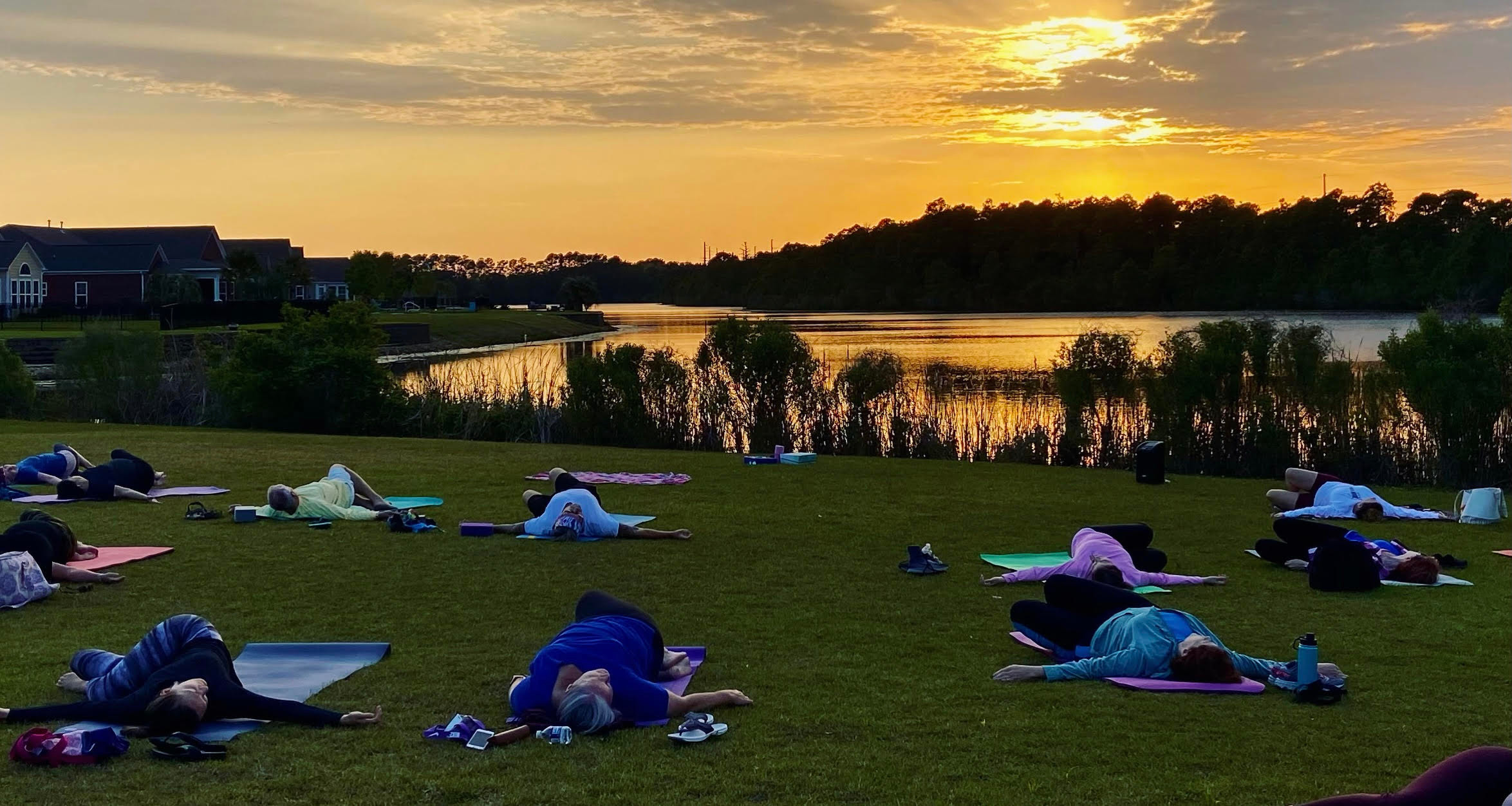 Sunset Yoga at Berkshire Forest Lake