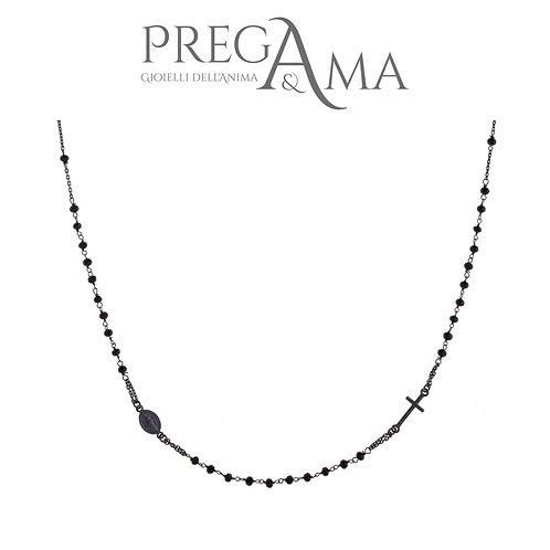 Girocollo rosario Prega&Ama | Pietre nere RUTENIO