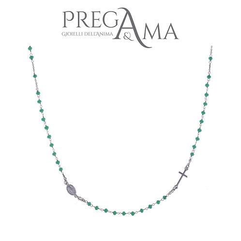Girocollo rosario Prega&Ama | Pietre verdi RODIO