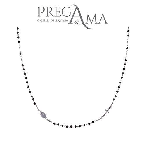 Girocollo rosario Prega&Ama | Pietre nere RODIO
