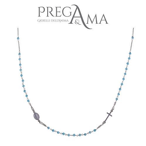 Girocollo rosario Prega&Ama | Pietre azzurre RODIO