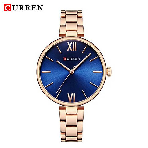 Curren Donna Diva Rose Gold / Blue