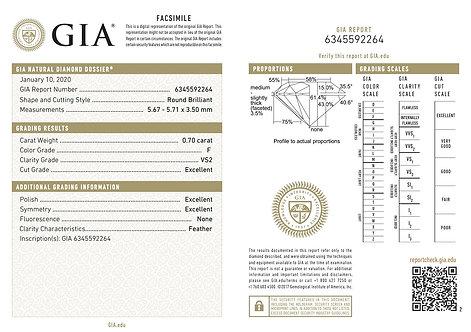 GIA 0.70ct F VS2
