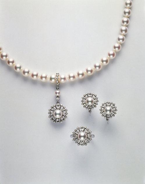 Sun Pearl-necklace & Earring