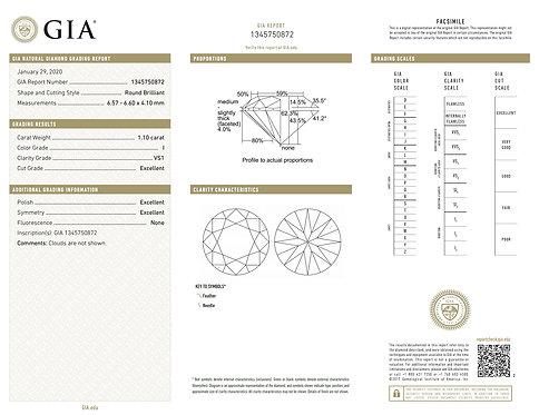 GIA 1.10ct I VS1