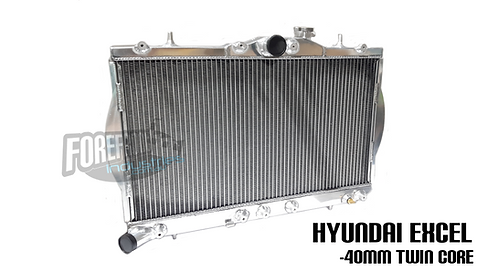Hyundai Excel 40mm Thick Twin Row Radiator