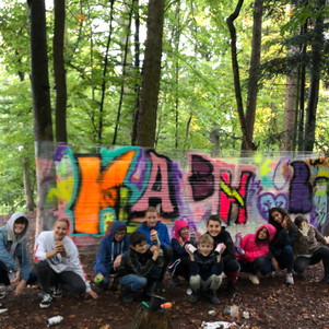 Graffiti auf Folie