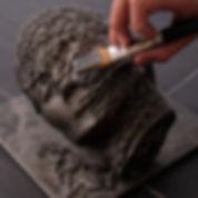 Menschlicher Kopf Modellierkurs Modellieren Kind am Malen Malkurs Kinder und Jugendliche Luzern Zürich Kindermalkurs Kindermalkurse Kreativkurse Malkurse Zeichenkurs Zeichnen lernen