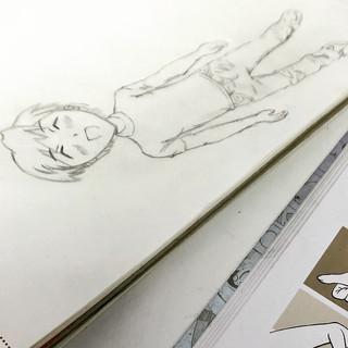 Ein Manga-Junge