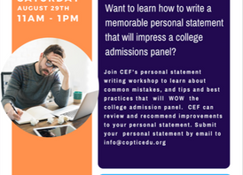 Coptic Educational Foundation | Personal Statement Review