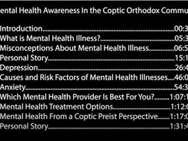 Increasing Mental Health Awareness in the Coptic Orthodox Community