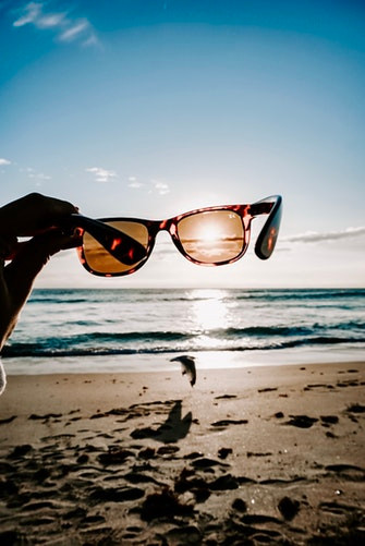 Polarized Sunglasses At The Beach