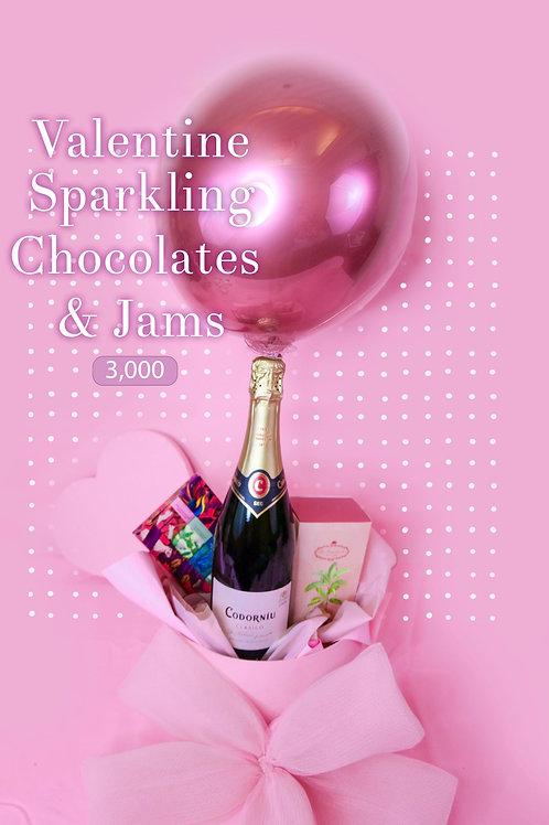 Sparkling, chocolate and jams
