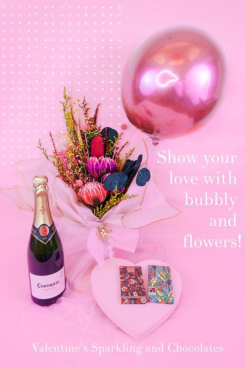 Valentine's Sparkling, chocolate and jams