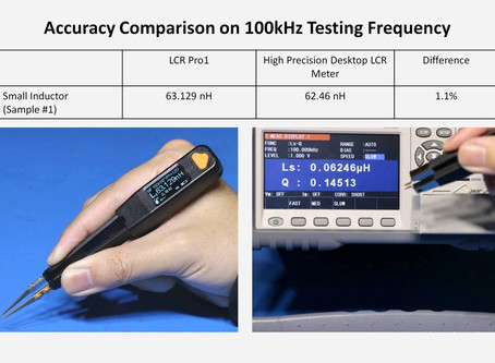 Use LCR Pro1 Tweezers-Style LCR Meter to Measure Small Inductors Accurately