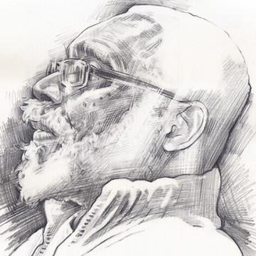 FOWOKAN  -  Sketch 1   Graphite pencil on cartridge paper  29 x 42 cm