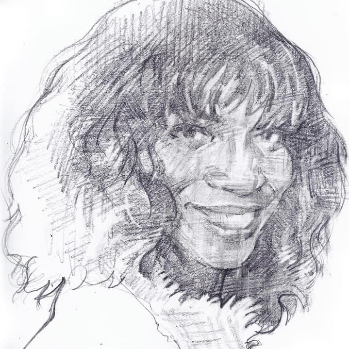 BRENDA EMMANUS  -  Sketch    Not for sale