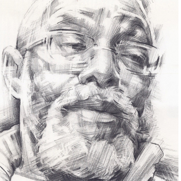 FOWOKAN  -  Sketch 3   Graphite pencil on cartridge paper  29 x 42 cm