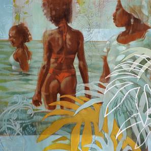 GO INTO THE WATER   Acrylic on wood panel  61 x 61 cm