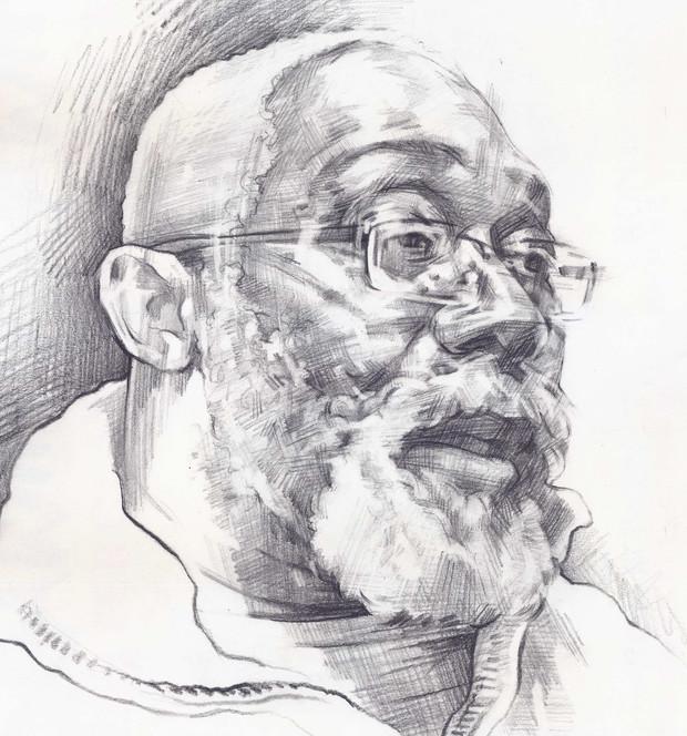 FOWOKAN  -  Sketch 5   Graphite pencil on cartridge paper  29 x 42 cm