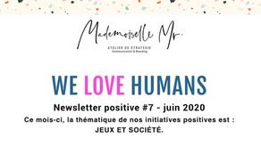 WE LOVE HUMANS JUIN 2020 - JEUX & SOCIÉTÉ(s)