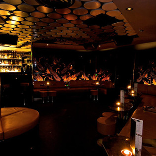 hong kong Evisu Bar interior seating area
