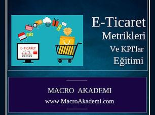 E-Ticaret Metrikleri ve KPIlar Egitimi -