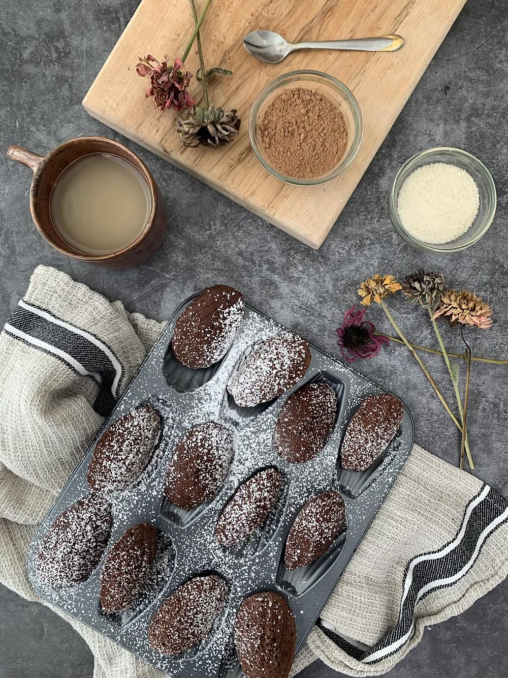 Chocolate merlot Madeleine recipe