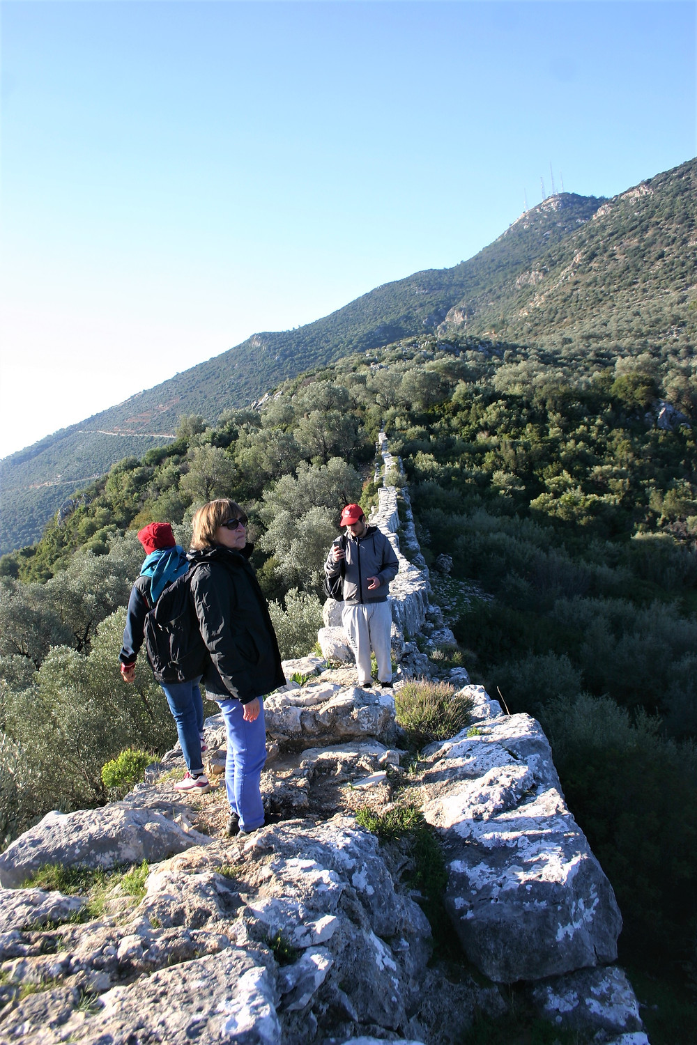 Trekkers on the Lycian Way