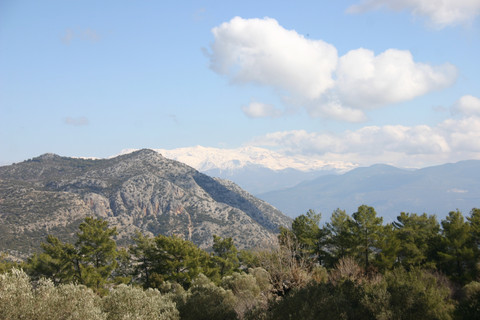 View of Akdag from Belcegiz, the giant of Lycia