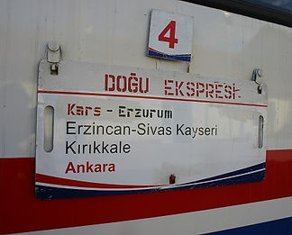 Dogu Ekspres destinaton board