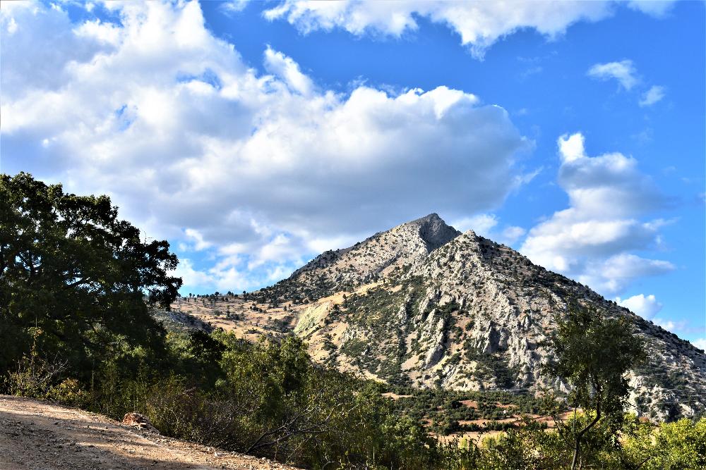 Mt sivri with ruins of Prostana city
