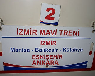Izmir Blue Train destination board