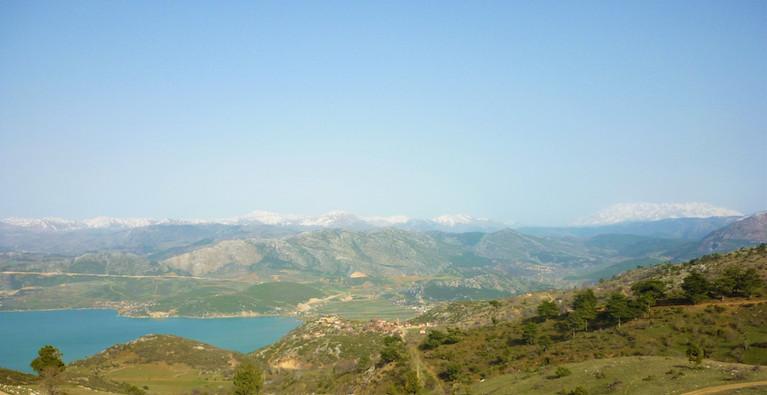 Eğirdir lake and Akpinar village from Prostanna